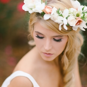 Beautiful Bride With Floral Crown