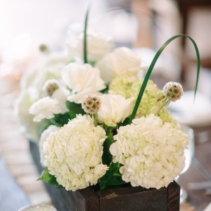 White And Green Rustic Centerpiece