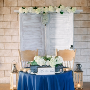 Royal Blue Sweetheart Table