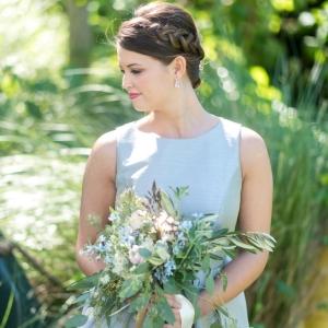 Dessy Gray Blue Bridesmaid Dress