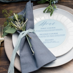 Gray Blue Coastal Inspired Place Setting