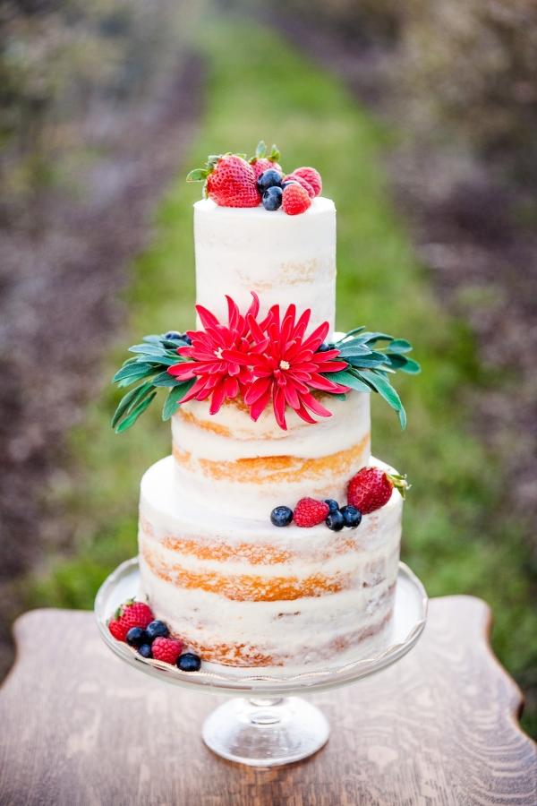 Summer Berries Naked Cake