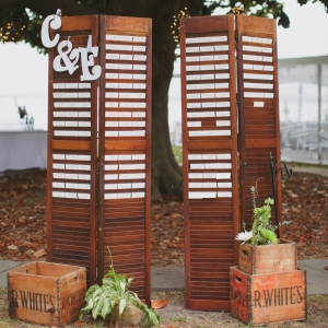 Wood Shutters Escort Display