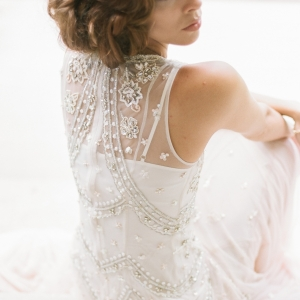1920's style wedding gown