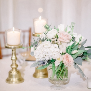 Candles And Floral Centerpiece