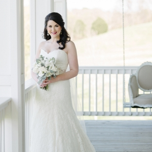 Pretty Bride On Porch
