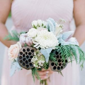 Pretty Lotus Seed Pod Bouquet