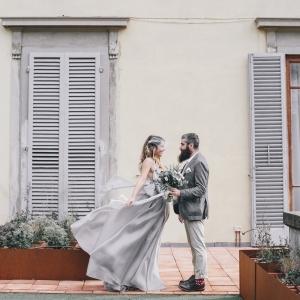 Italian bride and groom