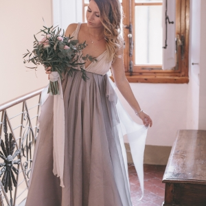 Two toned bridal gown