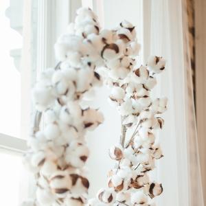 Cotton decorative wreath