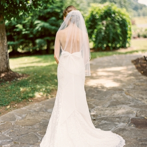 Low Back Bridal Gown with Bow