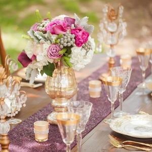 Pink & Gold Wedding Reception Details