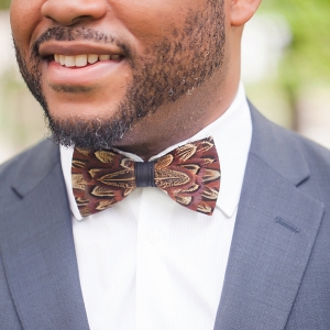 Groom's Feather Bow Tie