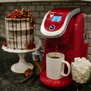 Red Keurig Coffee Brewer