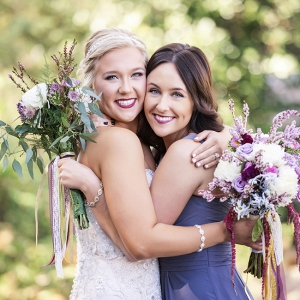 Bride Hugging Maid of Honor