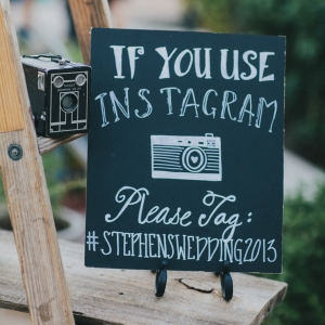Cute Instagram wedding sign