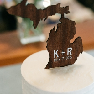 Cool Michigan state shaped cake topper