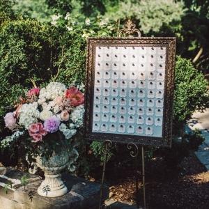 framed escort display seating chart