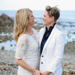 Amy and Erin's Coffeehouse Wedding in Maine