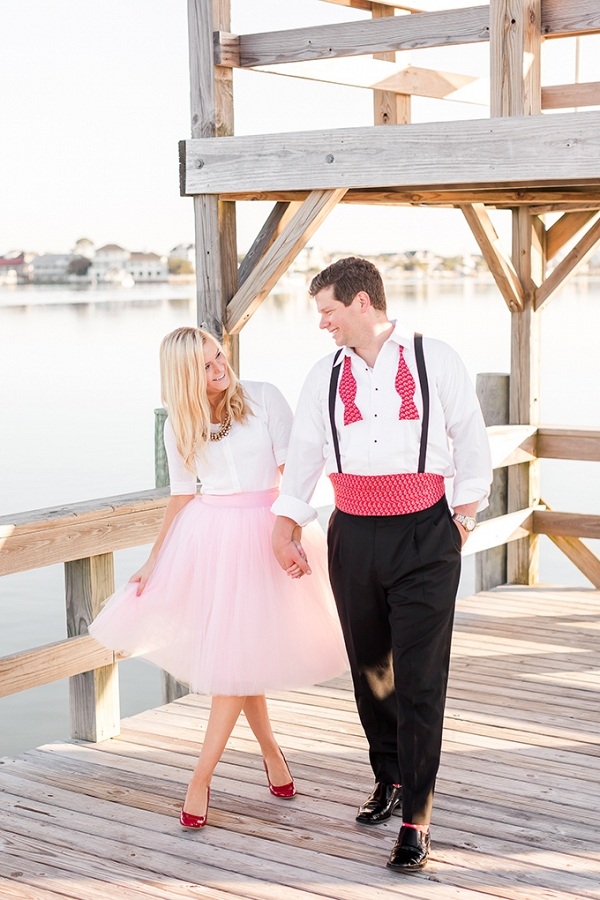 romantic glam beach engagement session by Amy Allen Photography on Glamour & Grace