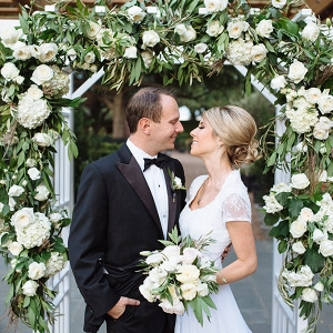 intimate garden vow renewal by Smith House Photography on Glamour & Grace