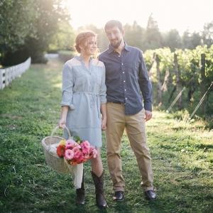 Romantic farm engagement on Glamour & Grace
