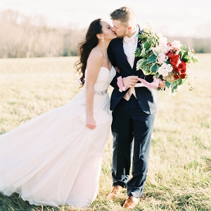 Windswept Wedding Portraits in Early Spring