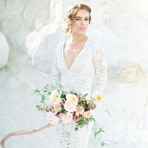 Romantic Bohemian Bride in the Colorado Desert