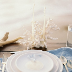 Coastal Place Setting with Capiz Shell Escort Cards
