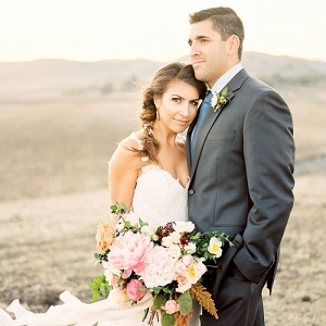 Elegant Bride and Groom at a Rustic Ranch Wedding