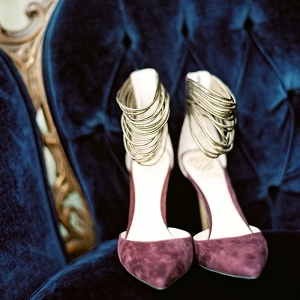 Purple and Gold Wedding Shoes