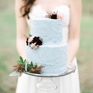 Buttercream Wedding Cake with Petite Flowers