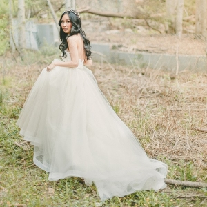 Graceful Ball Gown for a Mountain Bride
