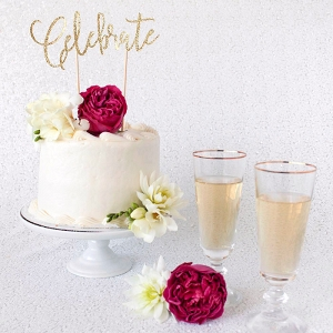 Gold Glitter Cake Topper DIY Tutorial