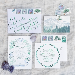 Hand Painted Wedding Invitations