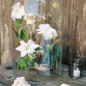 Escort Card Table with Modern Bohemian Wedding Flowers