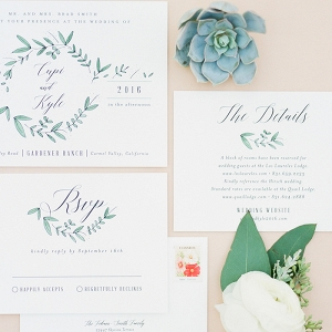 Succulent Inspired Invitation Suite