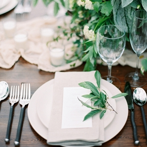 Organic Greenery with Rustic Neutral Wedding Decor