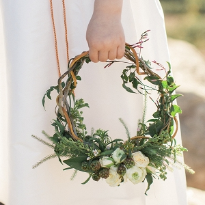 Greenery Wreath for the Flower Girl