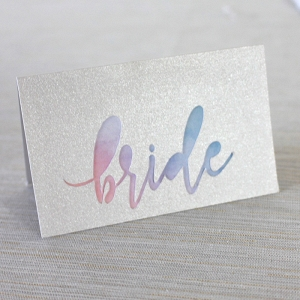 DIY Iridescent Pastel Place Card