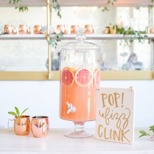 Copper and Citrus Specialty Cocktail Station