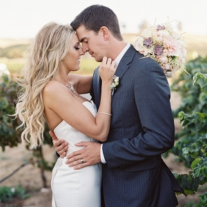 Romantic Vineyard Wedding Photos