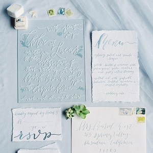 Acrylic Calligraphy Wedding Invitations