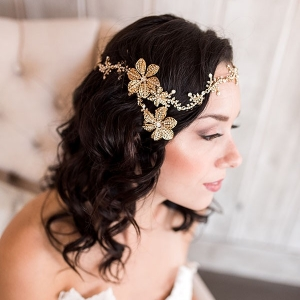 Boho Glam Bridal Halo Headpiece