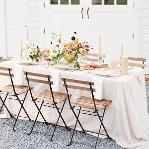 Elegant Rustic Fall Barn Wedding Reception