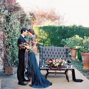 Vibrant fall colors for a winery wedding