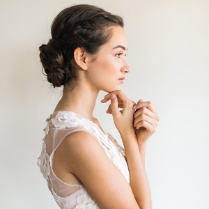 Fresh and Natural Bridal Makeup with a Loose Chignon