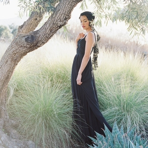 Graceful Black Wedding Dress for a Spanish Inspired Wedding