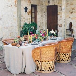 Elegant Hacienda Wedding Reception in Carmel Valley