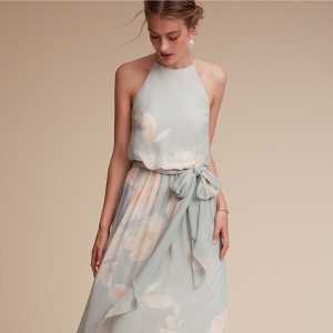 floral print bridesmaids dress